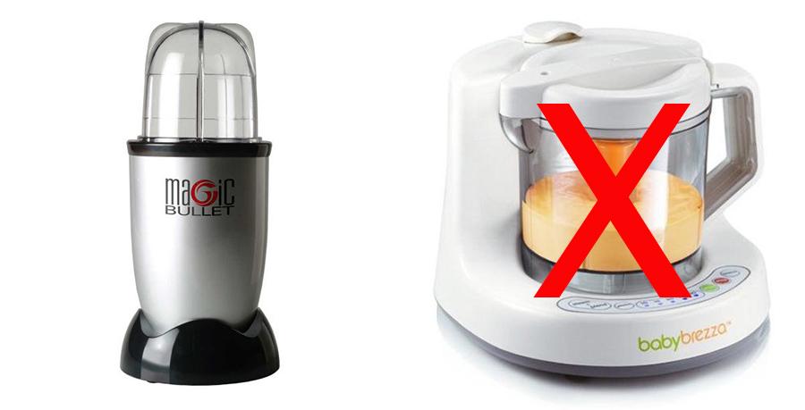 magic bullet vs baby brezza for baby food making