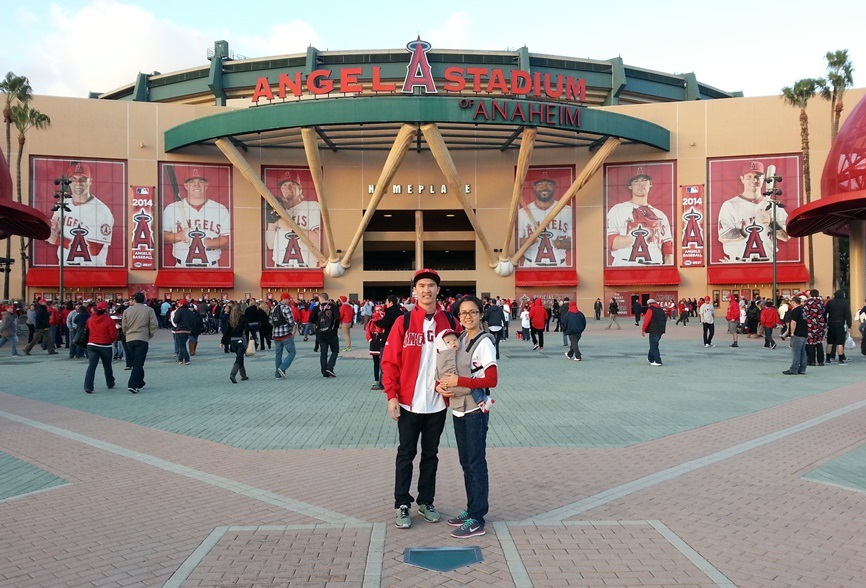 family at angels stadium