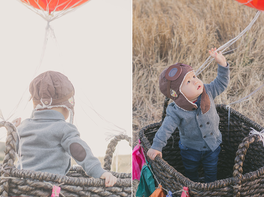 hot air balloon birthday photoshoot
