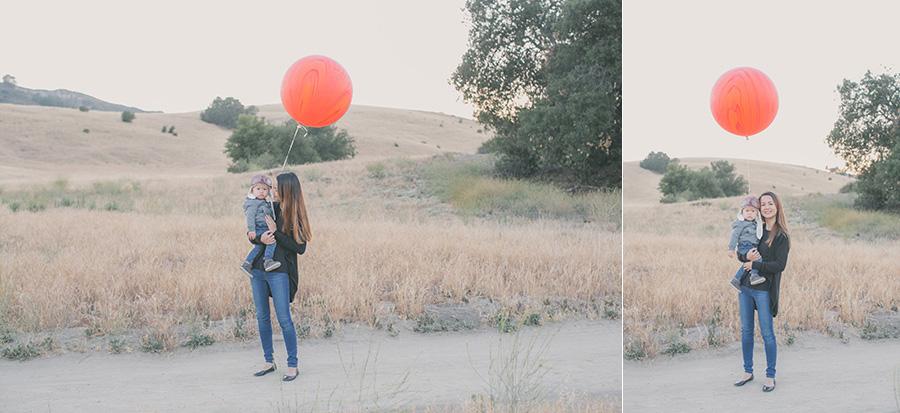 hot air balloon 1st birthday photoshoot