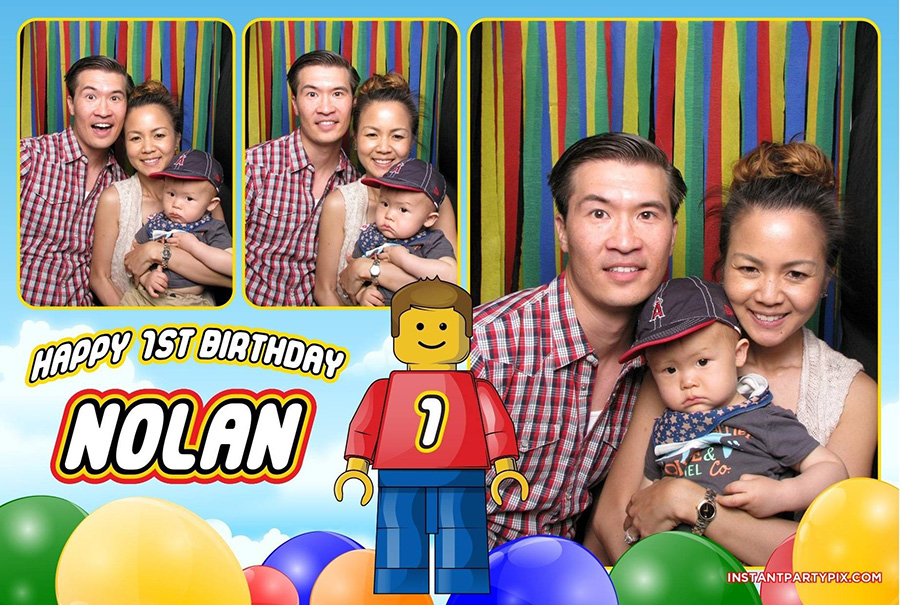 instant party pix photobooth lego theme birthday party