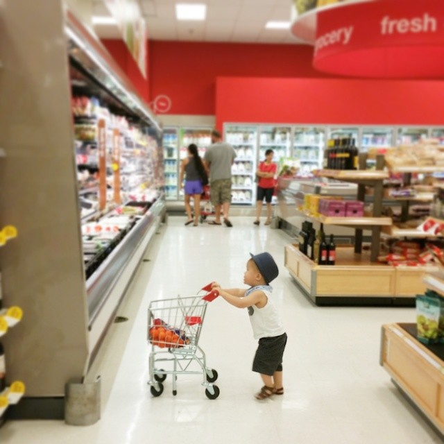 kid shopping cart