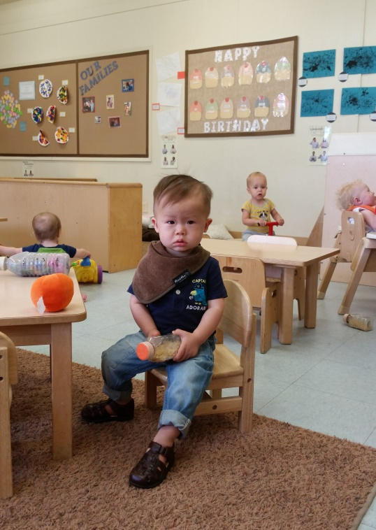 nolan first day at daycare