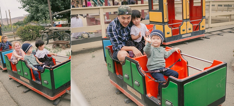 nolan's 2nd birthday train ride at Zoomars